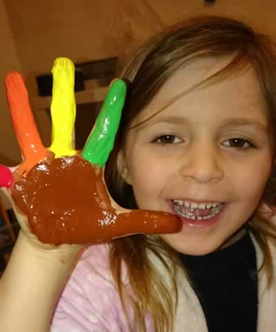 Freya painted hand