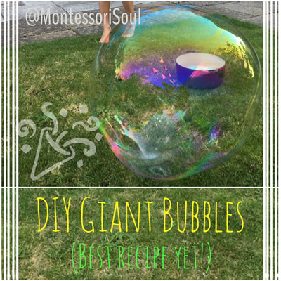 The Ultimate DIY Giant Bubbles