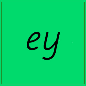 ey sound with letters