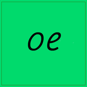 oe sound with letters