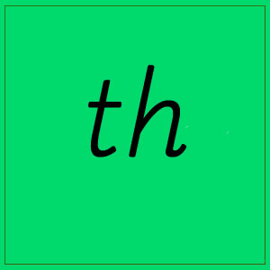 th sound with letters