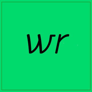 wr sound with letters