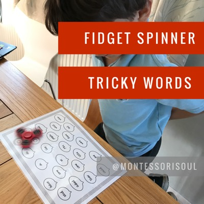 Fidget Spinner Tricky Words challenge