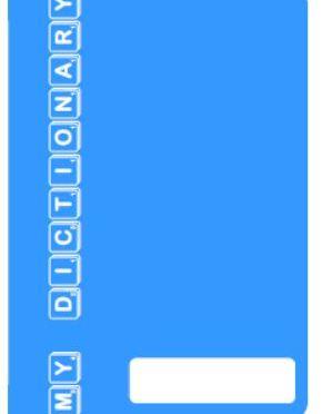 Personal Dictionary – Light Blue