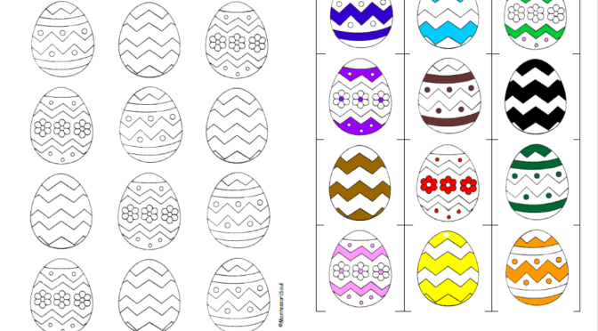 Colouring Easter Egg Hunt