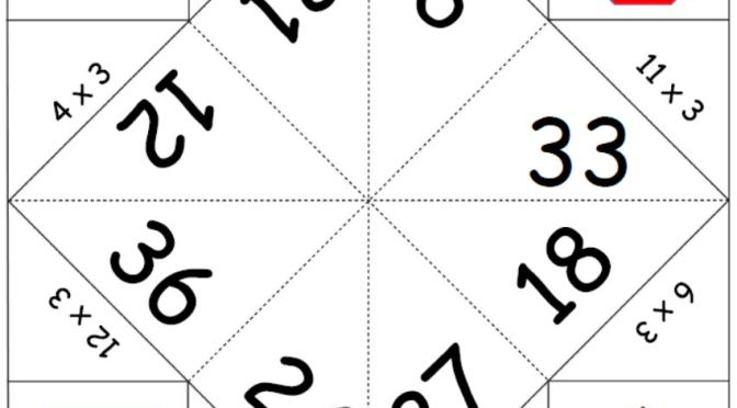 3x Table Fortune teller