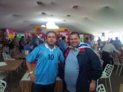 Miguel Martirena y Sergio Lamorte viajaron para ver Uruguay-Inglaterra