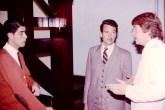 Con Fernando Díaz Gallinal y Michel Rodil, en 1986