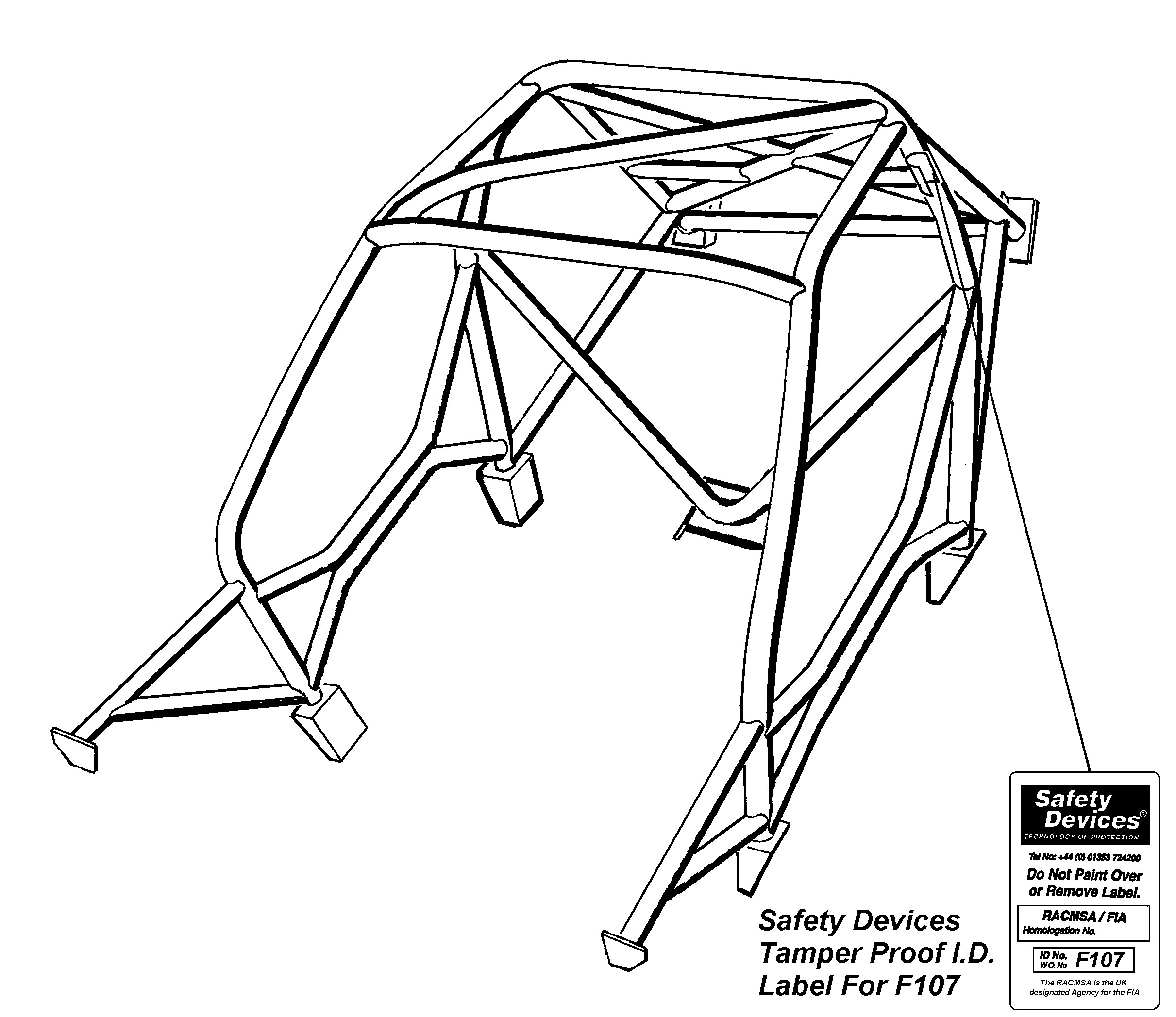 Safety Devices Ford Escort Mk1 Weld In Roll Cage