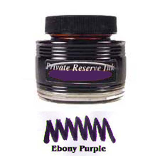 private reserve ink bottle 50ml ebony purple montgomery pens fountain pen store