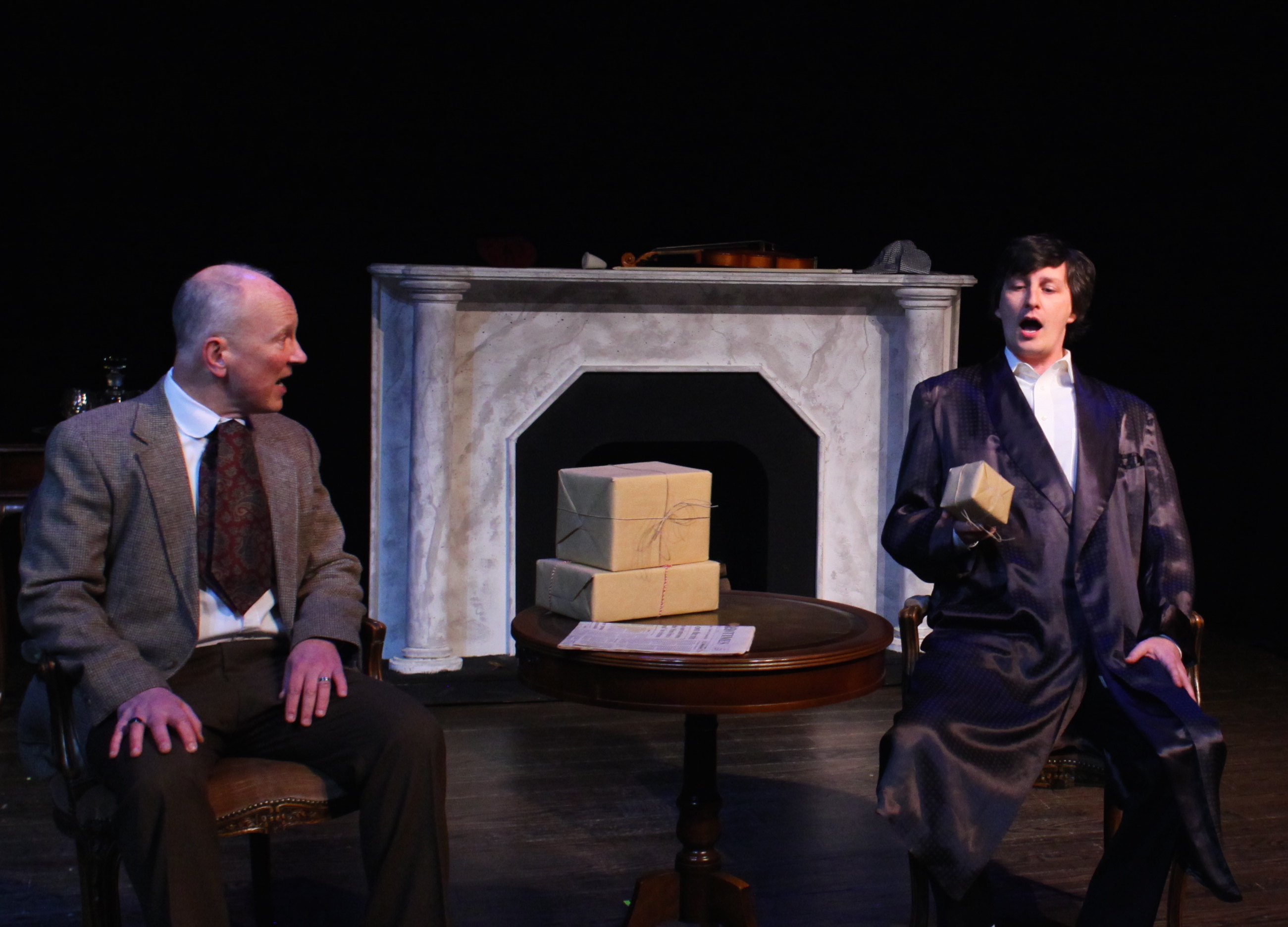 Christmas gifts - Dr. Watson (Paul Noga) and Sherlock Holmes (Matt Sims)