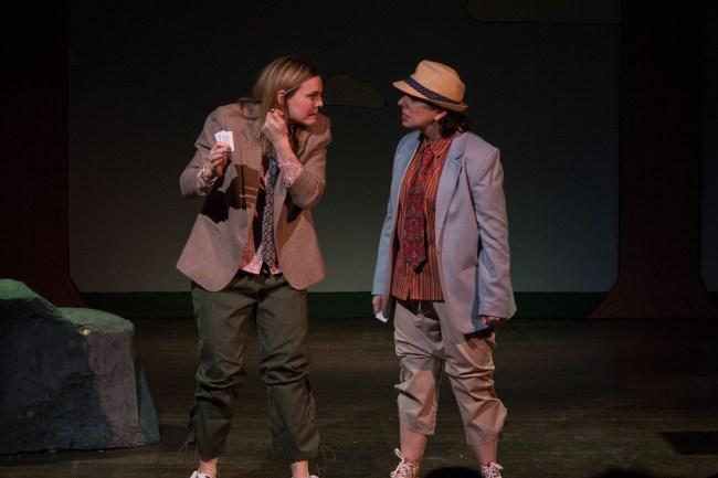 Sam (Rachael Harding) and Joe (Tricia Pisarra). Photo Credit Nicole Albee.