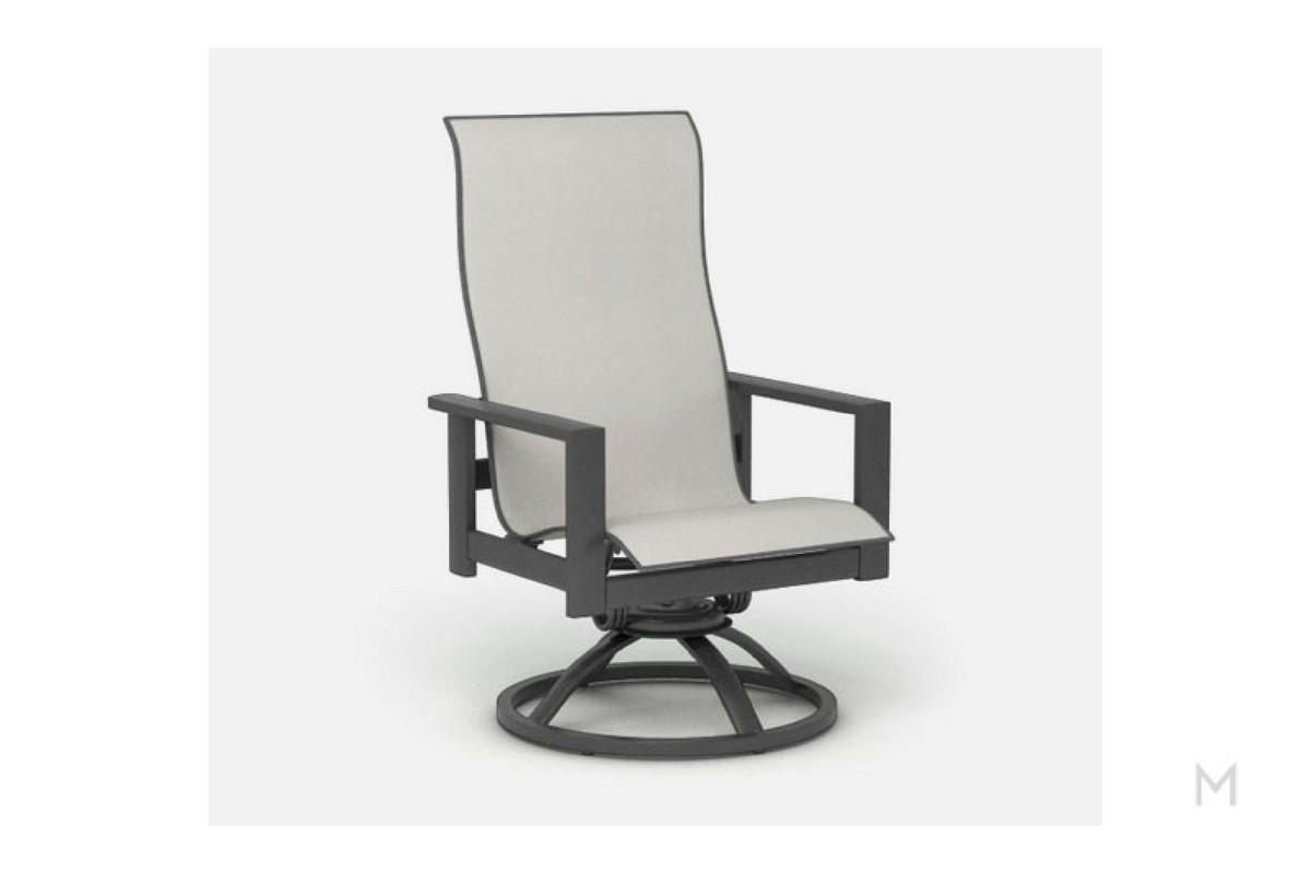 Sierra High Back Swivel Rocker Patio Chair