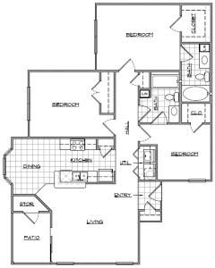 3 Bed / 2 Bath / 1,207 sq ft / Availability: Please Call / Deposit: $350 / Rent: Please Call