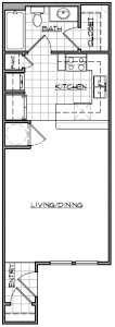 Studio / 1 Bath / 466 sq ft / Availability: Please Call / Deposit: $150