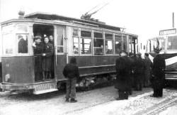 Ultima corsa del tram 11 Febbraio 1952 sostituito dall'autobus n.8