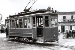 Capolinea del tram a Montorio in piazza del Municipio (oggi Piazza Buccari)