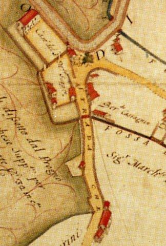 Mappa del 1687 di Matteo Alberti