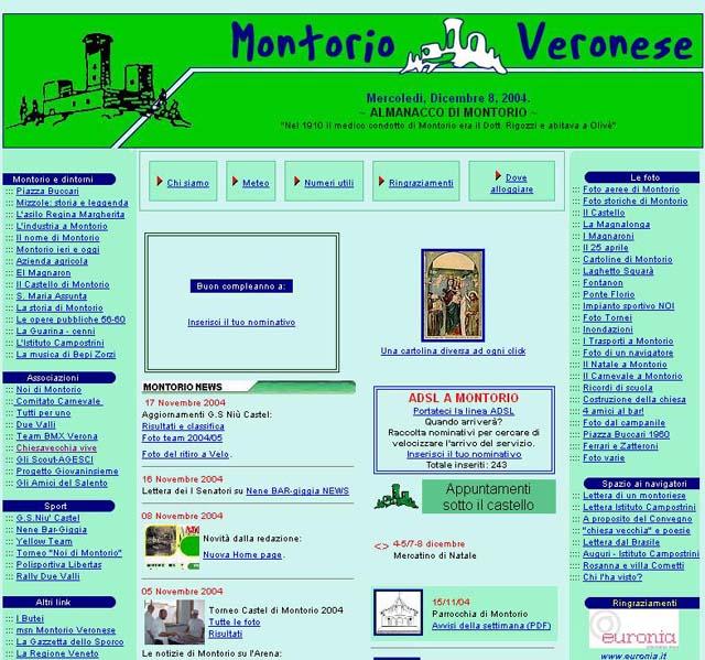Febbraio 2004 - home page con nuova testata
