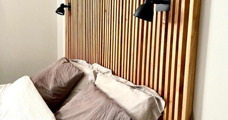 DIY°14 – Une tête de lit en tasseaux à faire soi-même