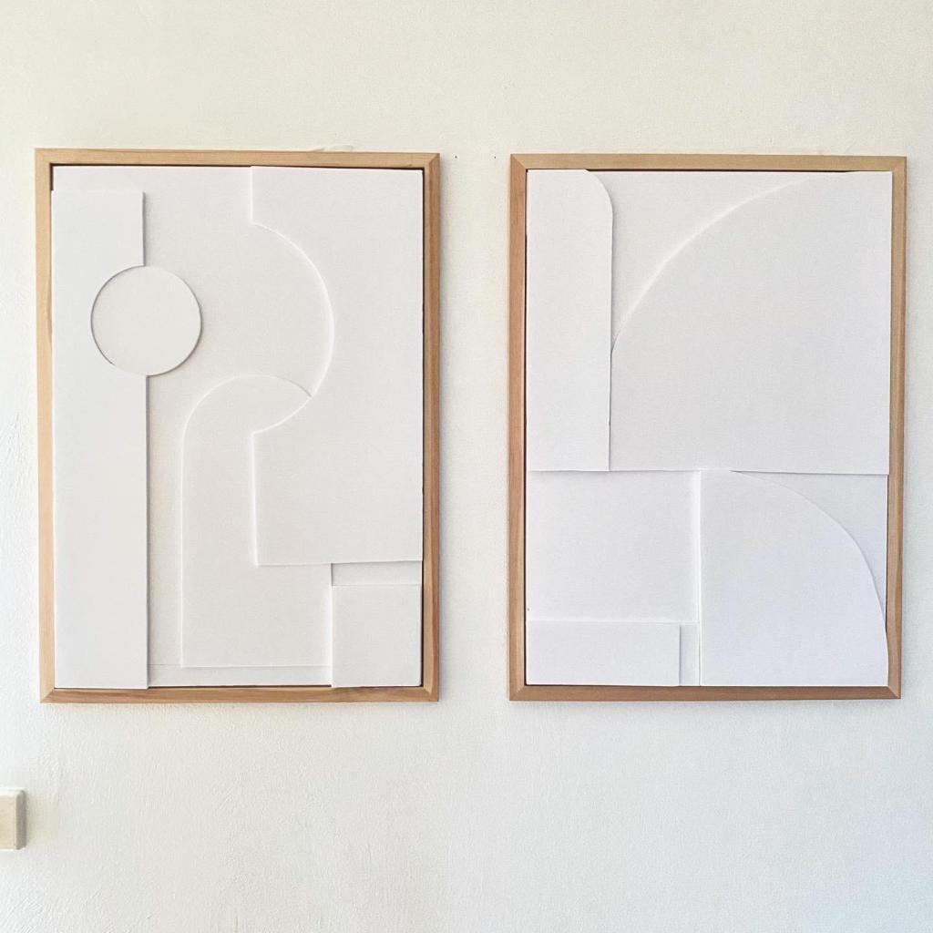 DIY Tableau minimaliste géométrique en relief