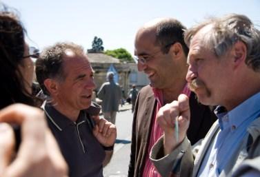 Eric Andrieu, Jean-Louis Roumégas et José Bové le 1er mai 2009 à Montpellier (photo : Xavier Malafosse)
