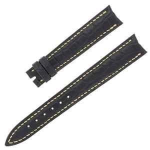 Franck Muller 14-12mm Bracelet en cuir alligator véritable Noir