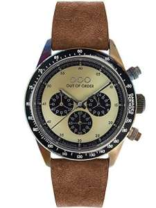 Out of OOO-Order Montre Chronographe Brown Cream Mixte