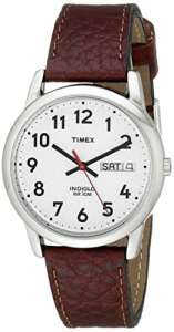 Timex – Homme – T20041 – Heritage Easy Reader – Quartz Analogique – Argent – Marron – Cuir