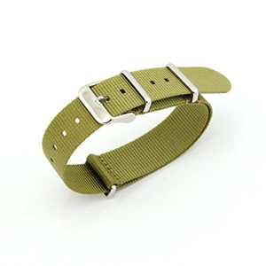 owfeel (TM) Ceinture en nylon vert militaire Bracelet de Montre de montre de rechange, 20