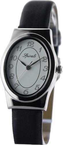 Spirale – Montre Femme – 212888 – Quartz Analogique – Bracelet Cuir en Noir