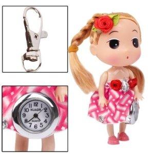 SUNSKY Grosse tête cheveux bouclés fille poupée style mignon pendentif montre