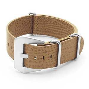dassari béton NATO Zulu Bracelet de montre en cuir italien marron clair 22mm