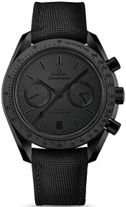 Speedmaster moonwatch Dark Side of the Moon « Noir Chronographe Cadran Noir Montre pour hommes en nylon noir 31192445101005