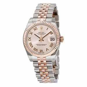 Rolex Datejust Montre pour femme avec cadran à chiffres romains rose En acier et or rose 18carats 178271PRJ