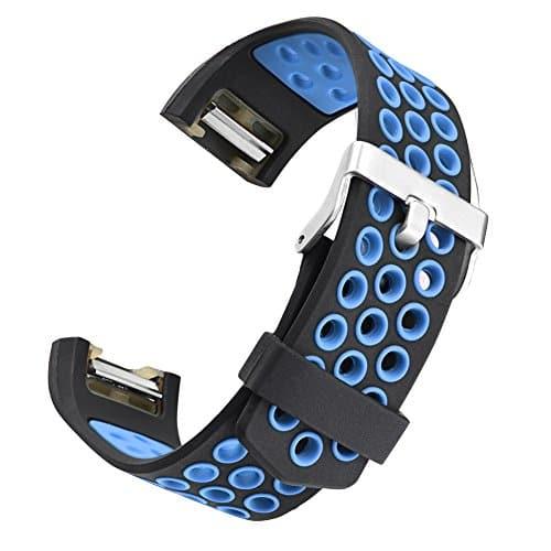 Convient pour fitbit charge 2 Mode Deux couleurs Respirant Remplacer Sangle Fletion Ajouré charger Silicone Sangle