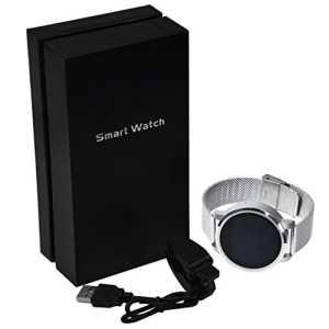 Montre bracelet support de présentation/montre de sport pour hommes Course/Smart montre bracelet, téléphone pour enfants–Fitness tracker App imperméable à l'eau et à la poussière et commande gestuelle–[Argenté]