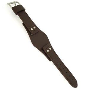 Fossil LB-CH2891 Bracelet de Montre de Rechange en Cuir pour Montre Fossil CH 2891 Marron 22 mm