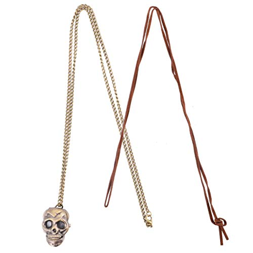 ibasenice Montre de Poche Squelette Halloween Vintage Montre de Poche Montre à Quartz Pull Collier avec Chaîne Cadeau pour Femmes Hommes