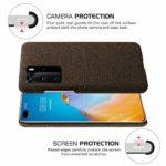 Oihxse Business Housse Case Compatible pour Huawei Enjoy 9S Coque en Tissu Toile Full Protection Étui Ultra Mince Léger Anti-Slip Antichoc Antifouling Hybride Cover,Marron