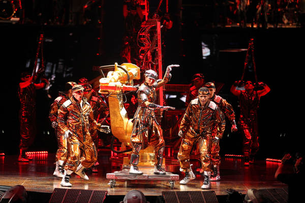 A scene from the Cirque du Soleil show Michael Jackson The Immortal World Tour, which had its world premiere Sunday night (Oct. 2, 2011) at the Bell Centre in Montreal.