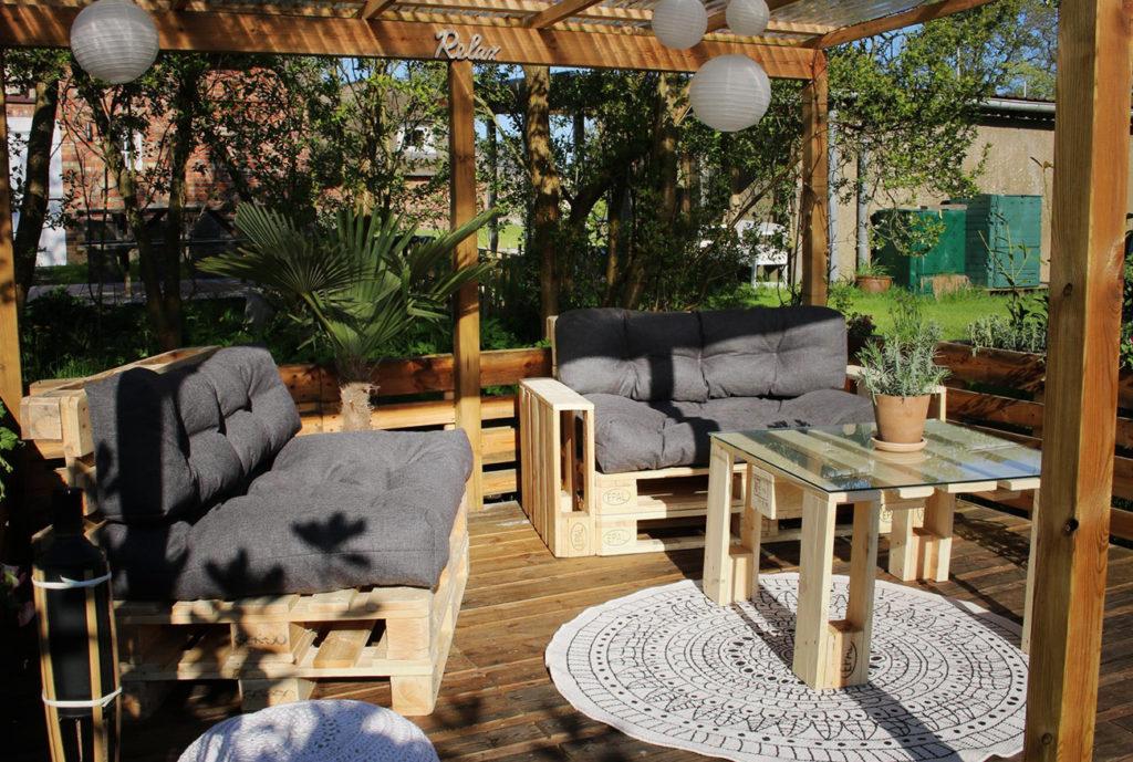 terrasses incroyables avec des palettes