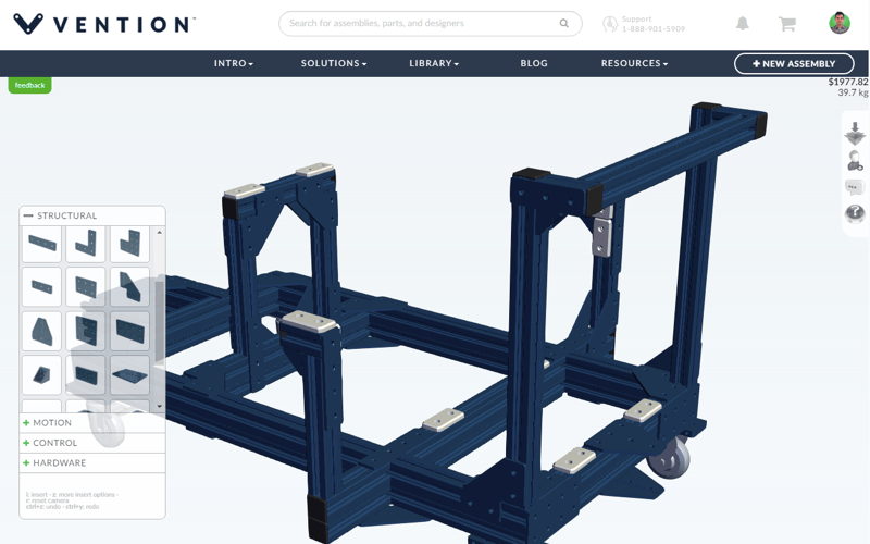 Vention releases 3D industrial design beta