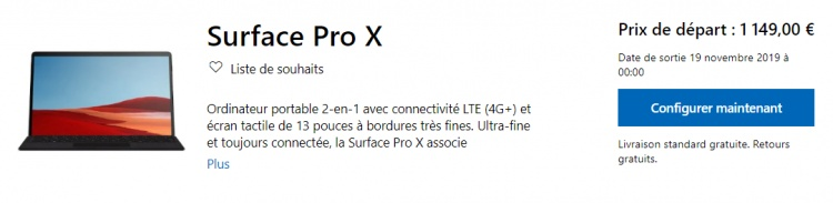 surfac-pro-x-prix