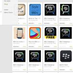 Blackberry-Messenger (BBM) Fake-Apps im Google-Play-Store.