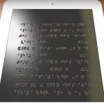 Braille-Tablet: Eine ganze Seite inklusive aller Grafiken wird auf einmal dargestellt (Foto: umich.edu)