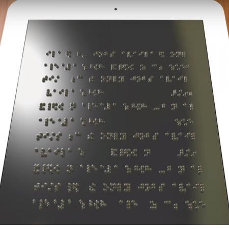 Tablet für Blinde stellt Brailleschrift da
