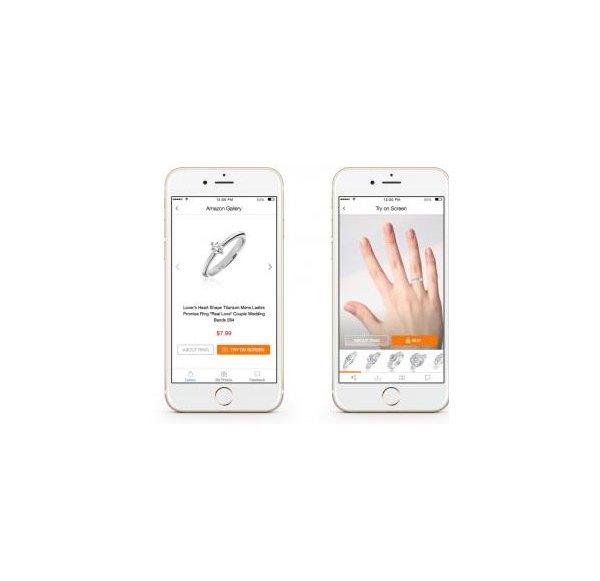 App: Schmuck-Anprobe per Finger-Scan