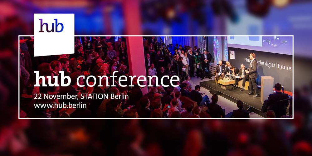 Gewinne mit moobilux.com eines von vier Tickets zur hub conference 2016 in Berlin.