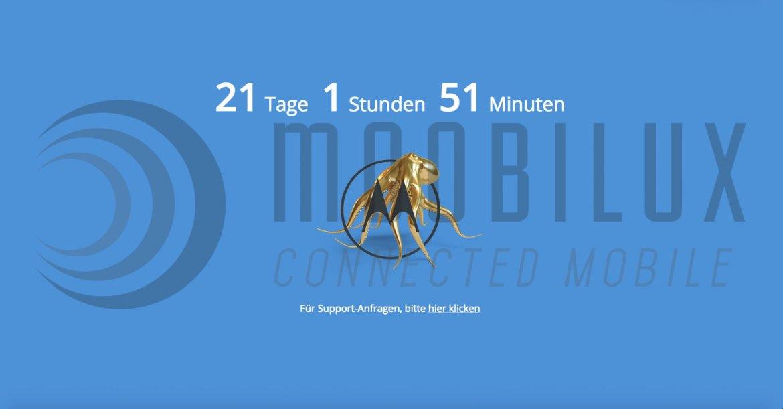 Deutsche Motorola Website offline. (Screenshot: moobilux.com)